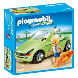 PLAYMOBIL SUMMER FUN SURFISTA CON COCHE DESCAPOTABLE