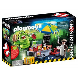 PLAYMOBIL GHOSTBUSTERS SLIMER CON STAND DE HOT DOG