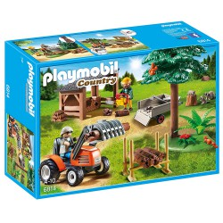 PLAYMOBIL COUNTRY LEÑADOR CON TRACTOR