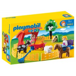 PLAYMOBIL 123 RECINTO CON ANIMALES