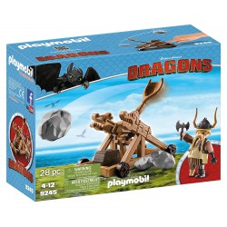 PLAYMOBIL DRAGONS BOCON CON CATAPULTA