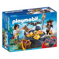 PLAYMOBIL PIRATES ESCONDITE DEL TESORO PIRATA