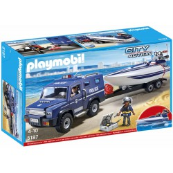 PLAYMOBIL CITY ACTION COCHE DE POLICIA CON LACHA
