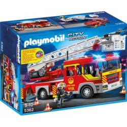 PLAYMOBIL CITY ACTION CAMION DE BOMBEROS CON ESCALERA