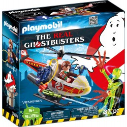 PLAYMOBIL GHOSTBUSTERS VENKMAN CON HELICOPTERO