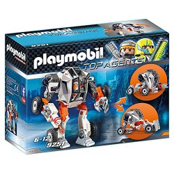 PLAYMOBIL TOP AGENTS AGENTE GENERAL CON ROBOT