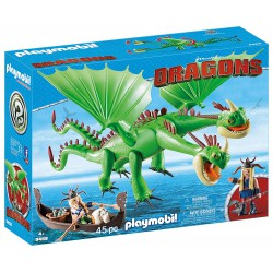 PLAYMOBIL DRAGONS Dragón 2 cabezas con chusco y brusca